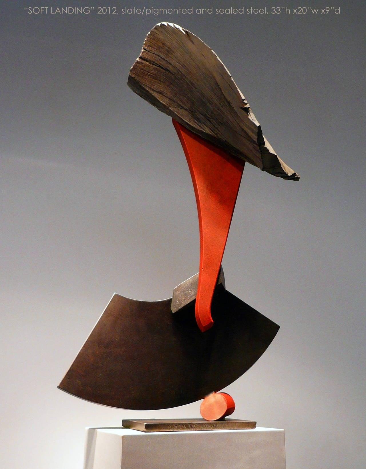 John Van Alstine Abstract Sculpture - Soft Landing