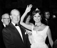Sophia Loren and Maurice Chevalier 1956