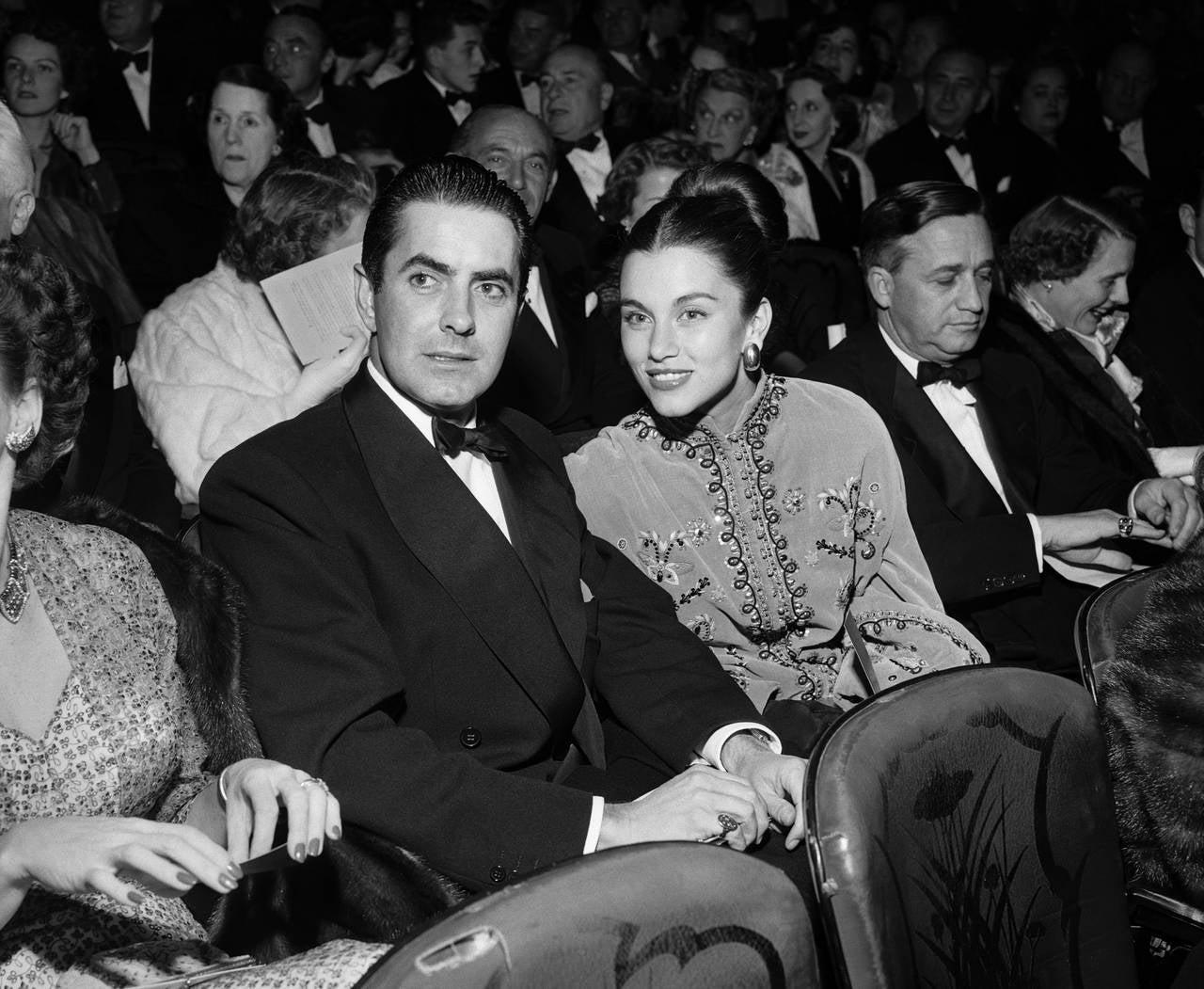 Frank Worth Tyrone Power And Linda Christian 1949