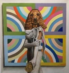Jill C. - Frank Stella Painting