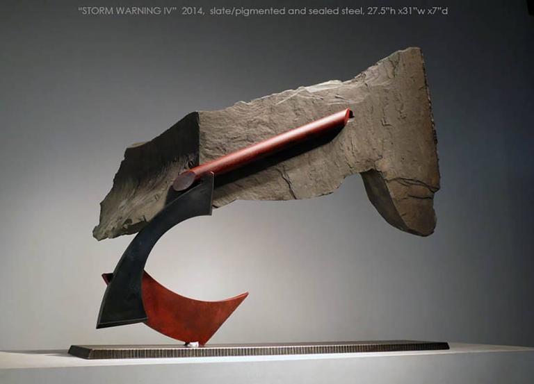 Stormwarning IV - Sculpture by John Van Alstine