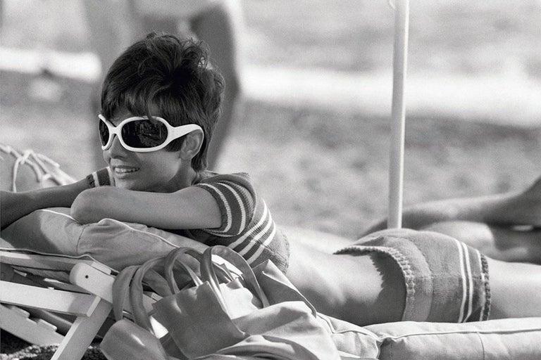 Terry O'Neill Portrait Photograph - Audrey Hepburn St. Tropez Relaxing