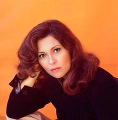 Faye Dunaway Orange Portrait