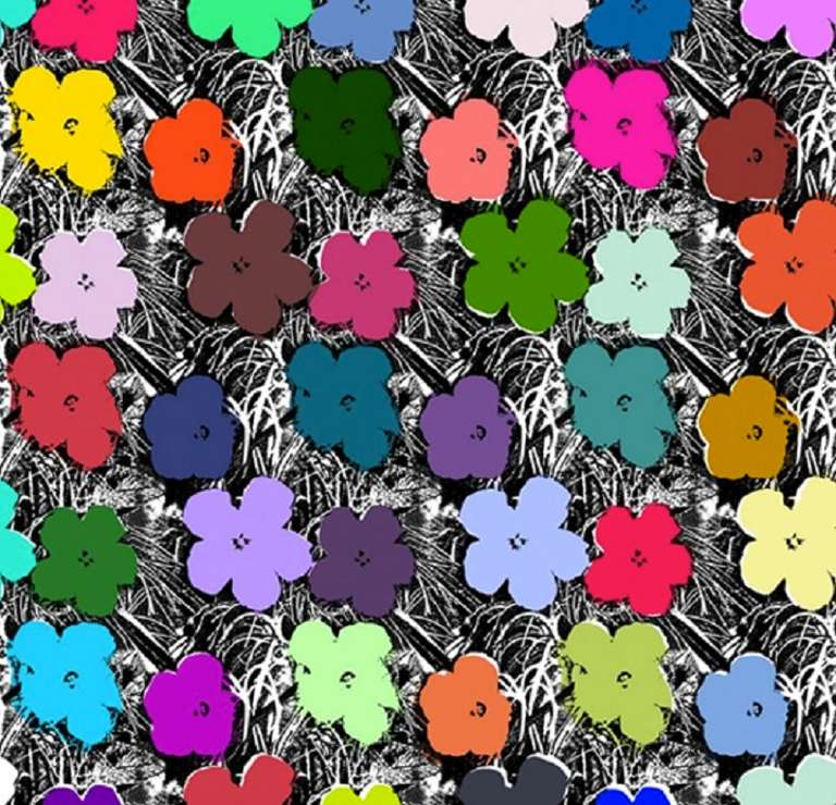 Warhol Flowers Print - Flowers Ideas