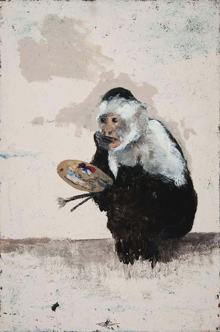 Miles Cleveland Goodwin Animal Painting - Self Portrait