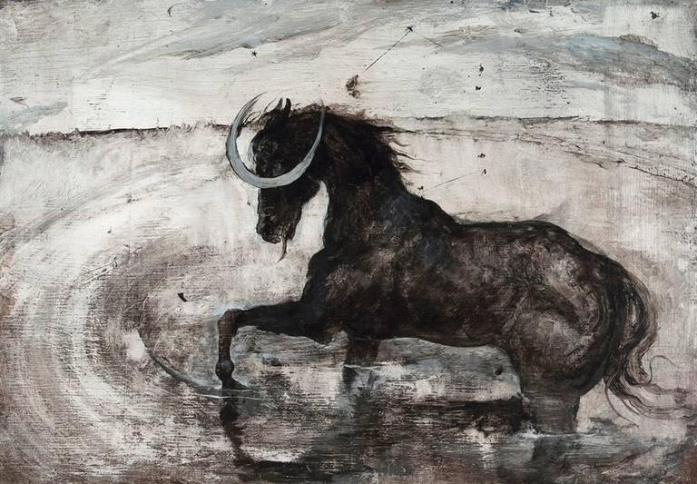 Miles Cleveland Goodwin Animal Painting - Dealing with Death