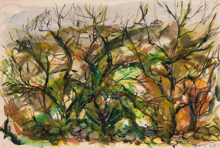 Elaine de Kooning Landscape Art - Untitled
