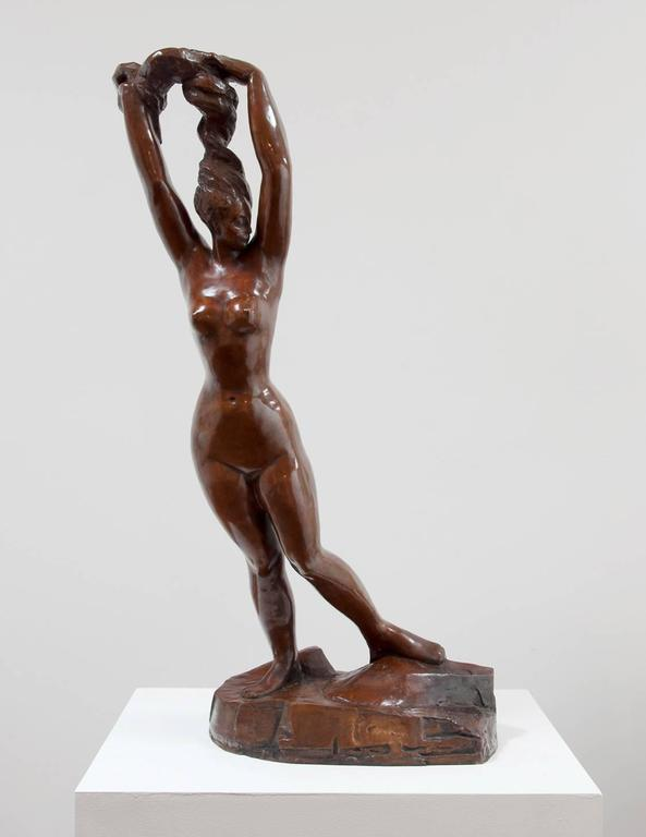 Morgan Russell Figurative Sculpture - Nude