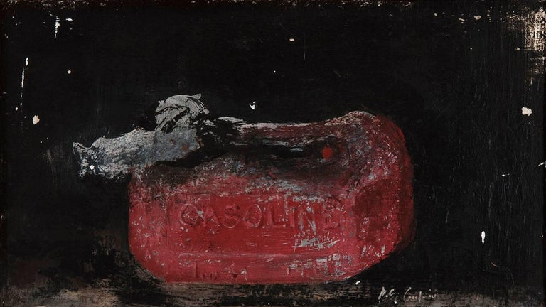 Melted Gas Can - Painting by Miles Cleveland Goodwin