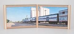 Amtrak a Passing Shadow, Granada, Colorado; U.S. Highway 50