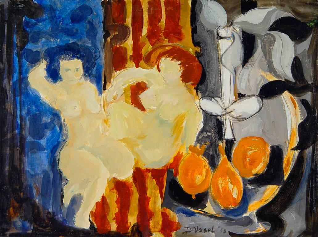 Two Nudes with Still Life