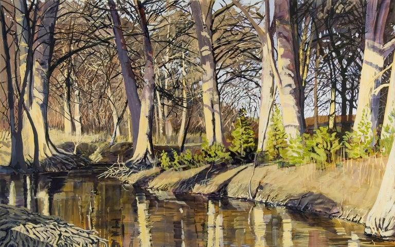East Fork Frio River, Winter - Art by Jane K. Starks