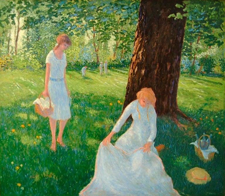 Donald S. Vogel Landscape Painting - Picnic Shade