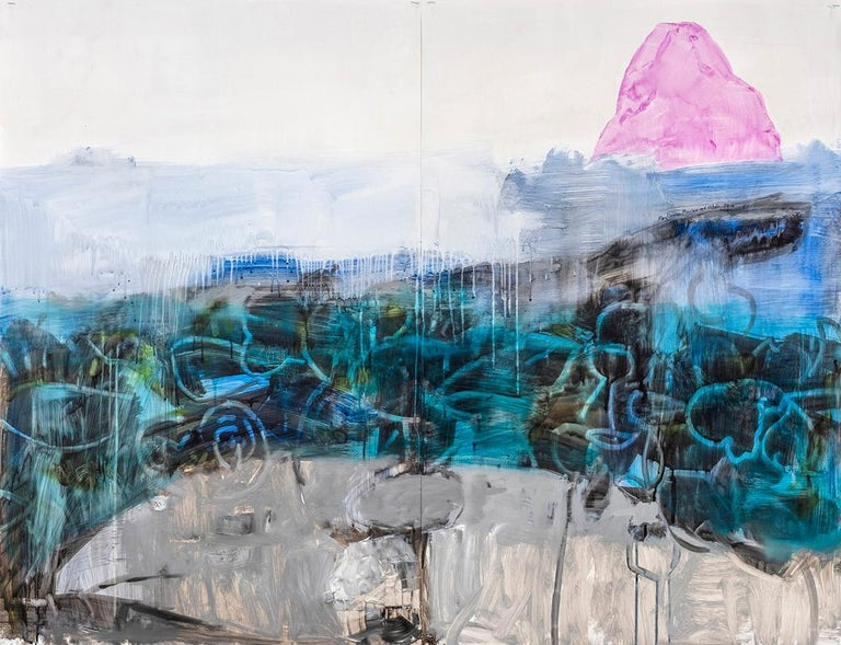 Mary Vernon Animal Painting - Mountain and Whale