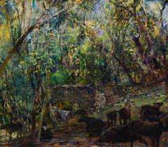 Aqueduct Linking San Juan and La Espada, Fanny's Cows in Foreground