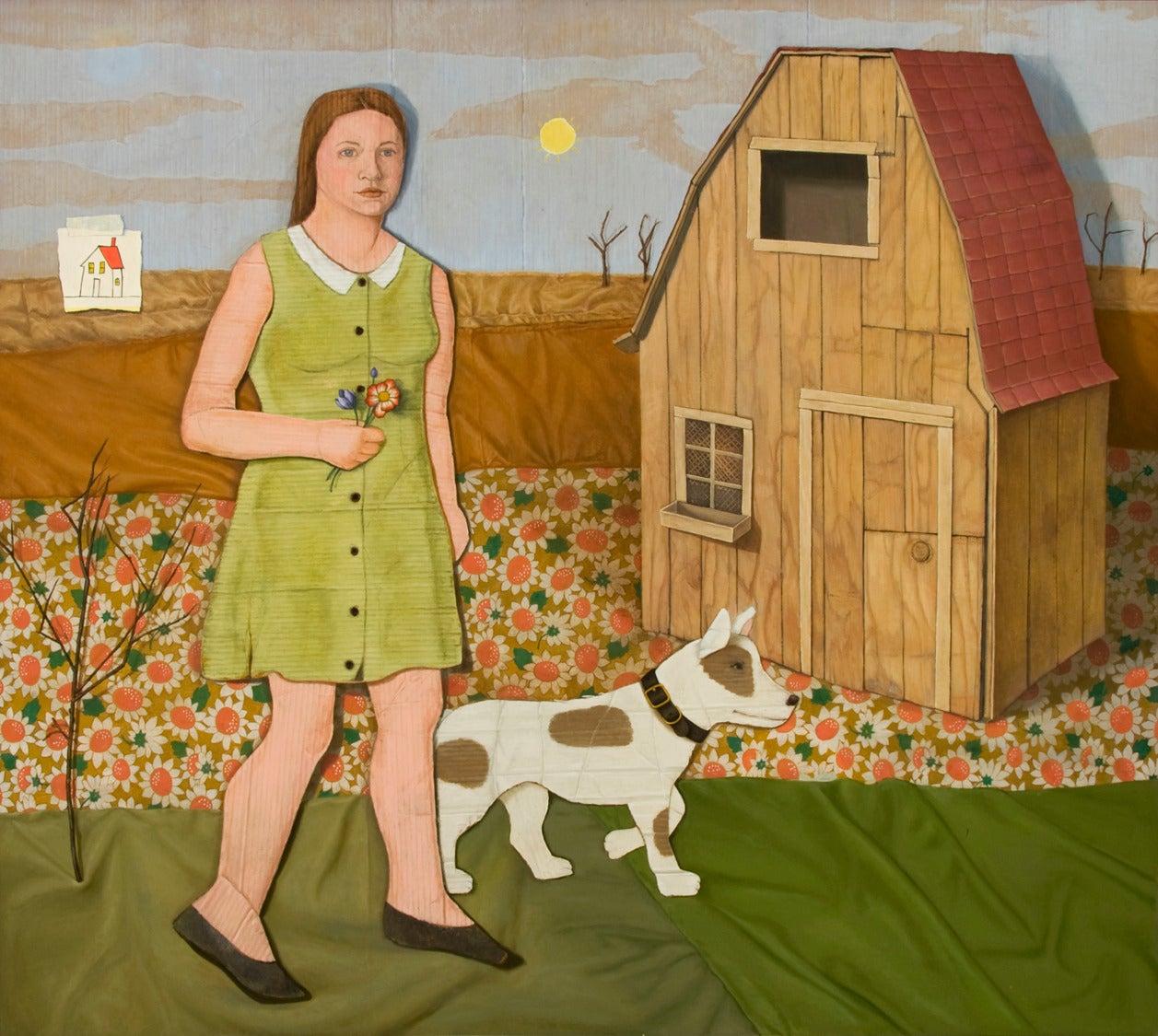 Vera Barnett Still-Life Painting - The Painted Word:  Wander