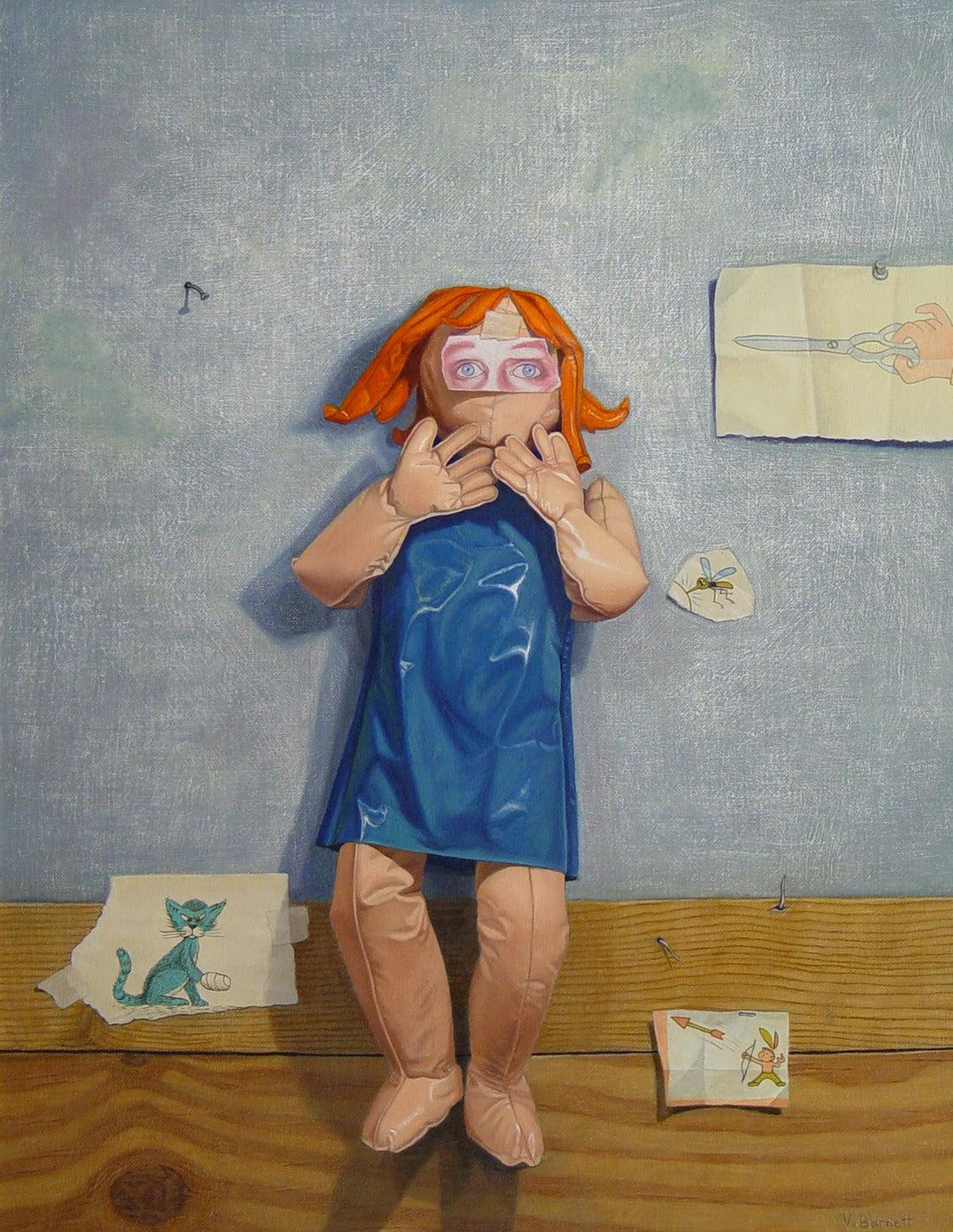 Vera Barnett Still-Life Painting - Fear of Pointed Objects (Aichmophobia)