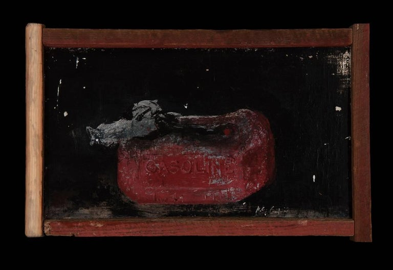 Melted Gas Can - Contemporary Painting by Miles Cleveland Goodwin