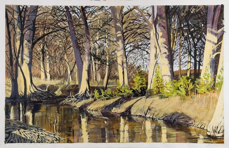 East Fork Frio River, Winter - Realist Art by Jane K. Starks