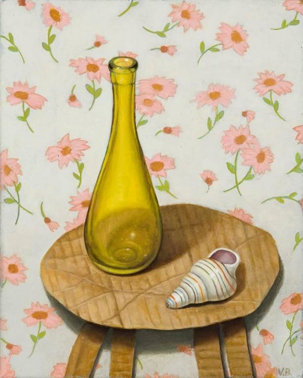 Vera Barnett Still-Life Painting - Bottle and Shell