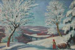 Snow Scene - Woodcutters