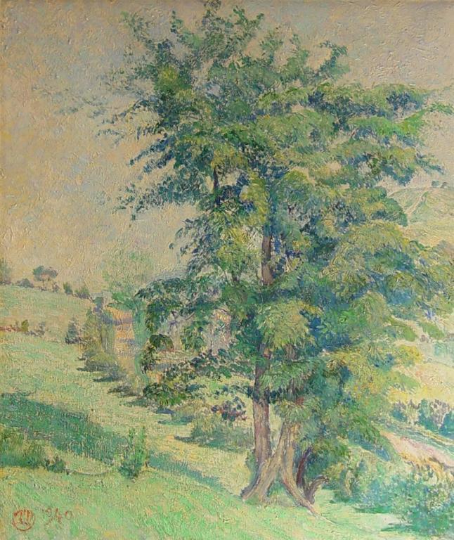 Lucien Pissarro Landscape Painting - Le Grand Chêne
