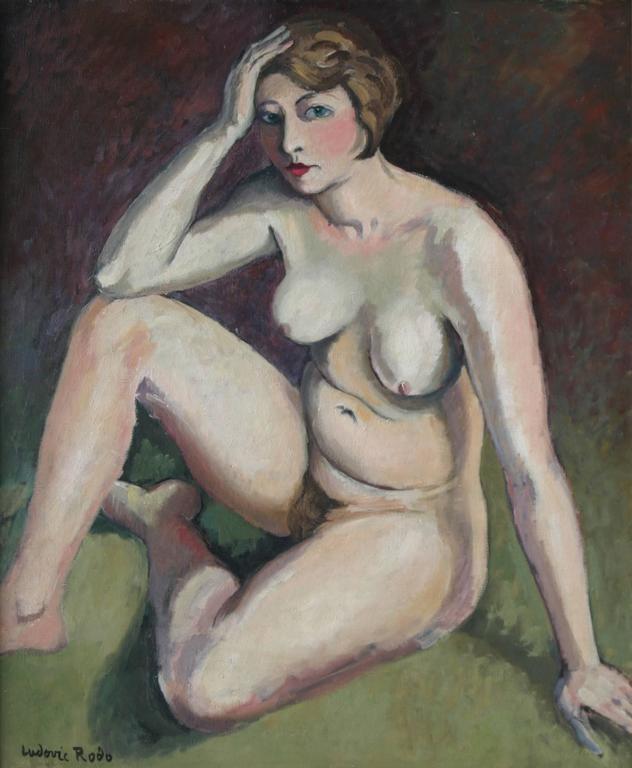 Ludovic Rodo Pissarro Nude Painting - La Penseuse