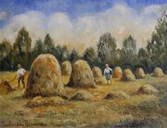 Paul Emile Pissarro - Les Meules de Foin