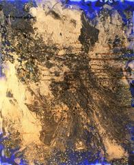 Abstract Composition in Blue and Gold II
