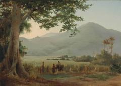 Camille Pissarro - Personnages Discutant au Bord  d'un Chemin