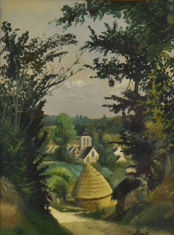 Louis Hayet Landscape Painting - Paysage