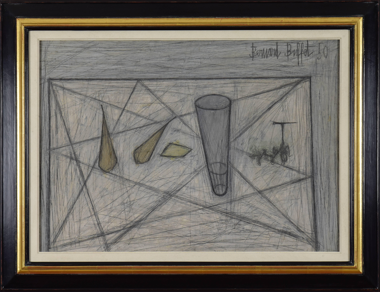 Bernard Buffet, 1928-1999 - Poires, Verre et Raisins, Painting For ...