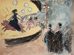Fauvist Drawings and Watercolor Paintings