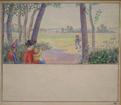 Apparition des Premiers Habitants  (Illustration to Voyage au Pays des Pommes)