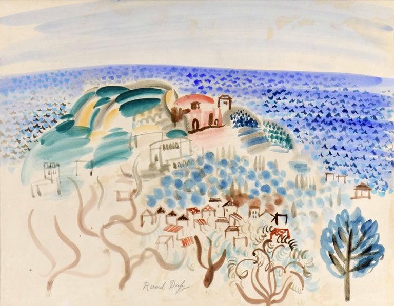 Raoul Dufy - Le Village au Bord de la Mer 1