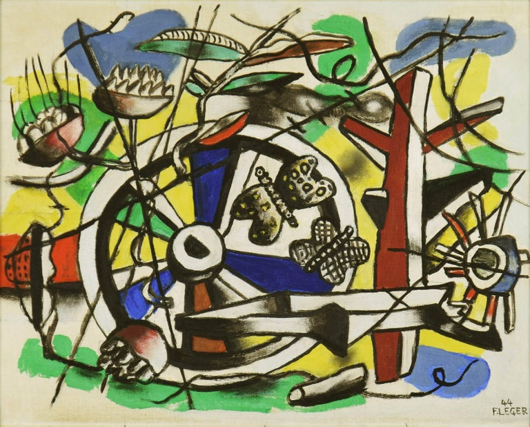 Les Papillons dans la Roue, FERNAND LÉGER - Modern, Cubism, Abstract, Insects For Sale 1