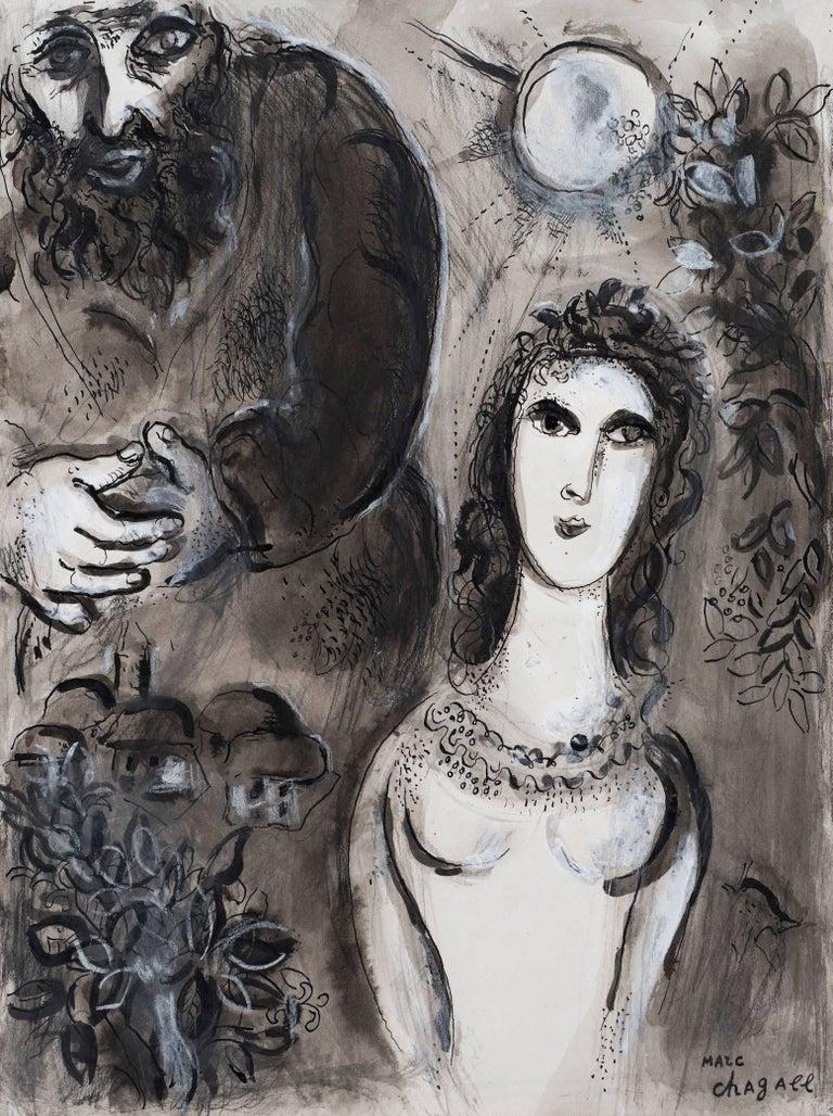 Marc Chagall Figurative Art - Esther et Mardochée