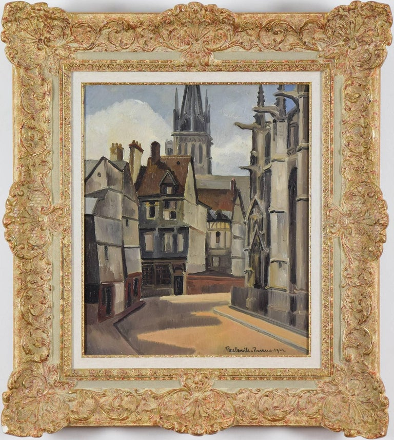 The Cathedral at Rouen - Painting by Paul Emile Pissarro
