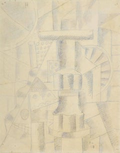 Composition Mécanique by FERNAND LÉGER - Early work on paper by Cubist master