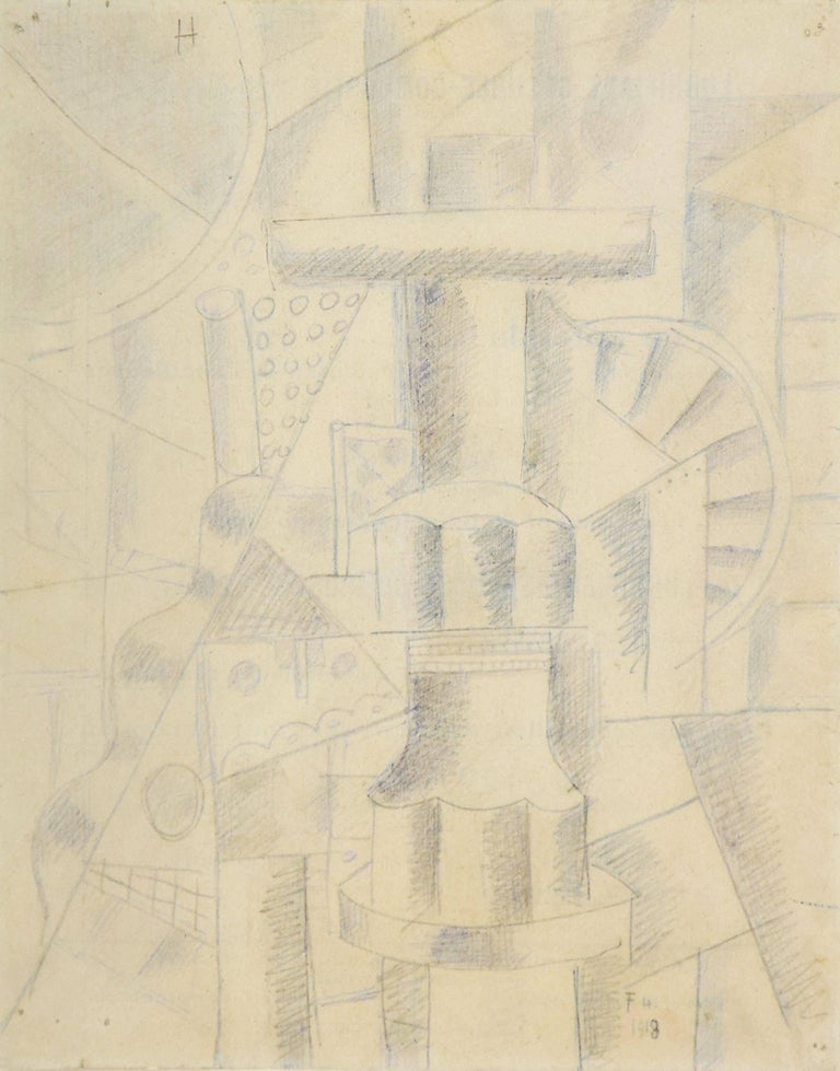 Pen, ink and pencil on paper 27.1 x 21.2 cm (10 ¾ x 8 ¼ inches) Signed and dated lower right, F.L. 1918  Provenance Galerie Louise Leiris, Paris Kunsthalle, Basel Saidenberg Gallery, New York B.C. Holland, Chicago Richard Grey Gallery, Chicago James