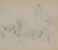 Village Scene with Figures, Venezuela