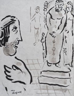 Esther Accuse Aman by Marc Chagall - Original artwork, School of Paris, Modern