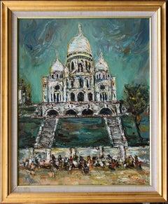 Sacré-Coeur, YITZHAK FRENKEL-FRENEL - Oil, Israeli, Architecture, Church