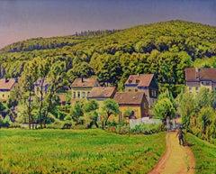 Paysage Animé d'un Village en Rhénanie