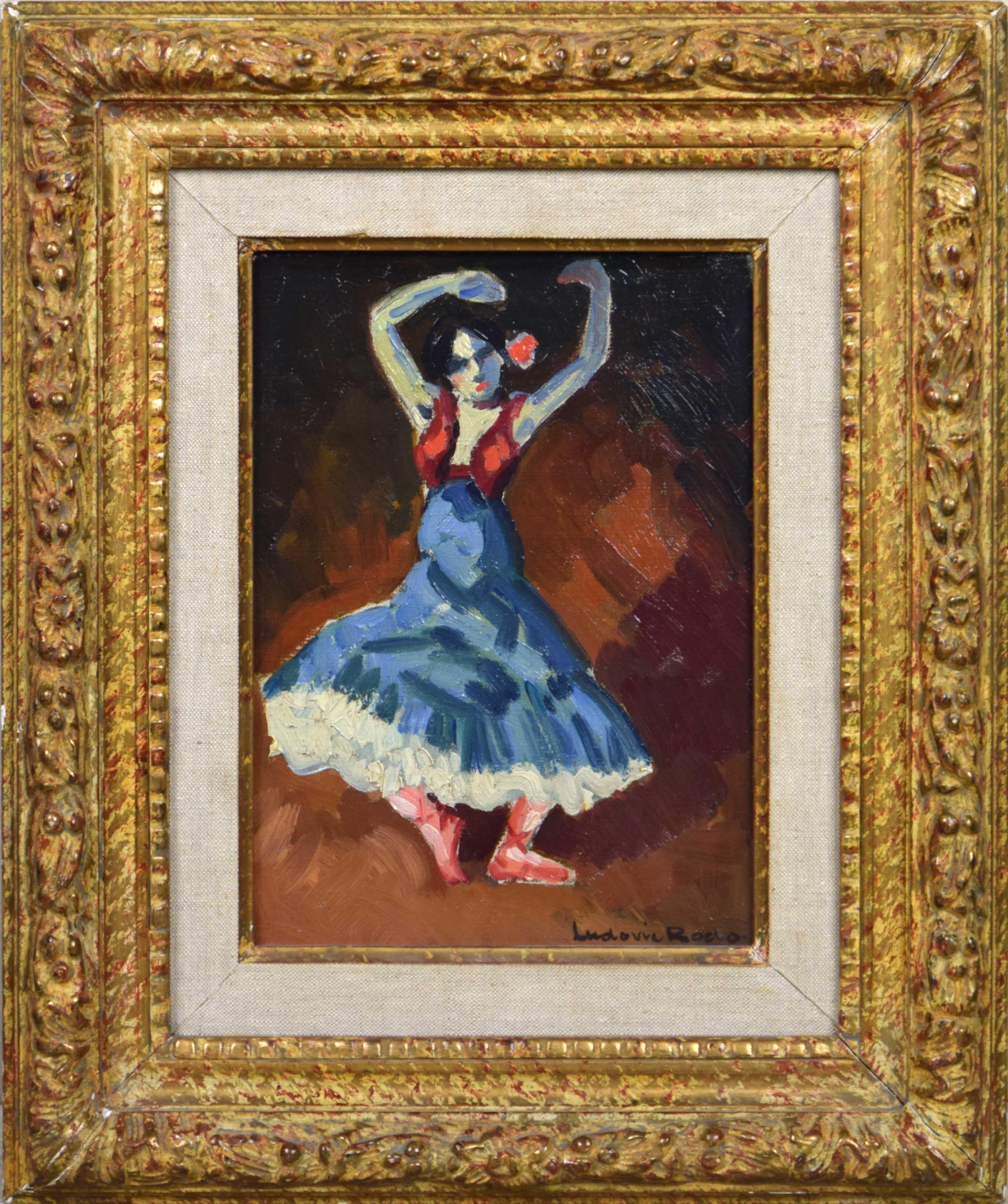 Danseuse Espagnole by LUDOVIC RODO PISSARRO - Fauvist Painting of Spanish Dancer