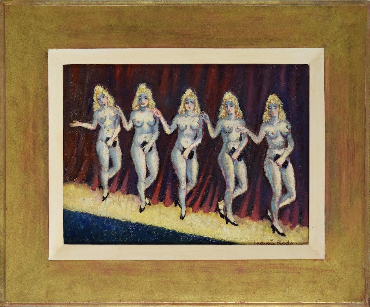 Cabaret Dancers (Cinq Sacs à Mains) by Ludovic-Rodo Pissarro, School of Paris