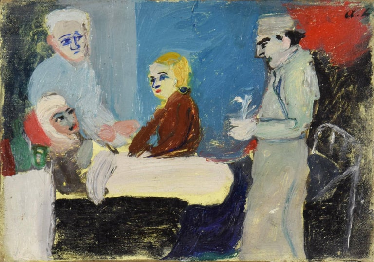 La Malade, ANDRÉ LANSKOY - Abstract, Tachisme, Expressionist, Modern - Painting by André Lanskoy