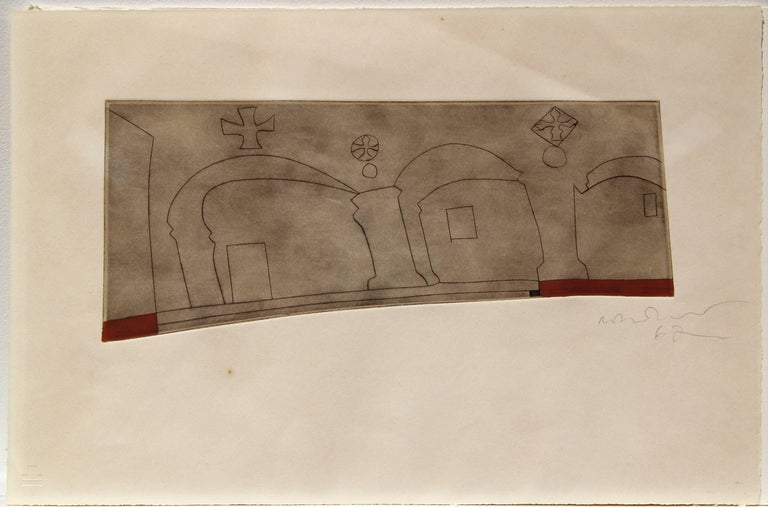 Ben Nicholson Print - Long horizontal Patmos