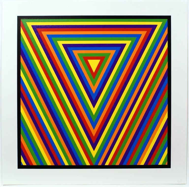 Sol LeWitt Abstract Print - Bands of Equal Width in Colour 2