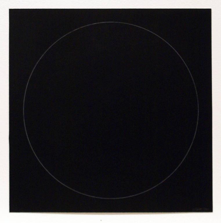 Sol LeWitt Abstract Print - Six Geometric Figures - Circle